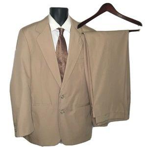 JOS A BANK Men's sz 40R Cotton Blend Suit 2 Button